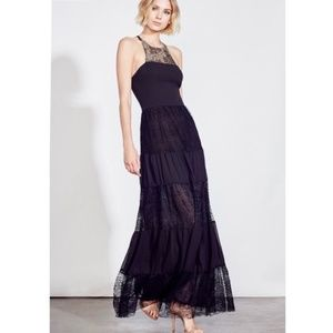 Ali & Jay Black Lace Maxi Dress